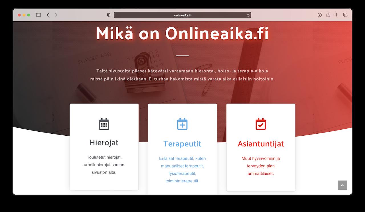Onlineaika.fi verkkosivustot